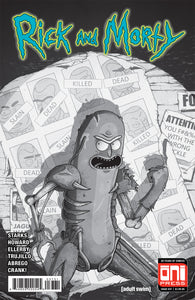 Rick And Morty 37 Oni 2018 Mike Vasquez Pickle Rick Uncanny X-Men 141 Homage B&W Variant (04/25/2018)