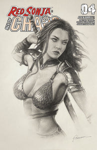 Red Sonja Age Of Chaos #4 Shannon Maer Pencil Sketch Variant GGA Pin-Up (06/17/2020) Dynamite