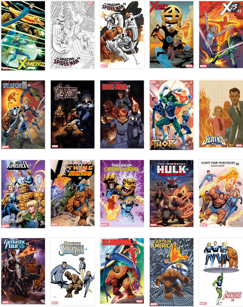 Return Of Fantastic Four Variant Bundle Lot Of 20 Covers Set Adam Hughes J Scott Campbell