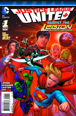 Justice League United Annual #1 DC 2014 Jeff Lemire Andrew Robinson