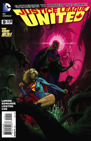 Justice League United #9 A DC 2015 Jeff Lemire Andrew Robinson