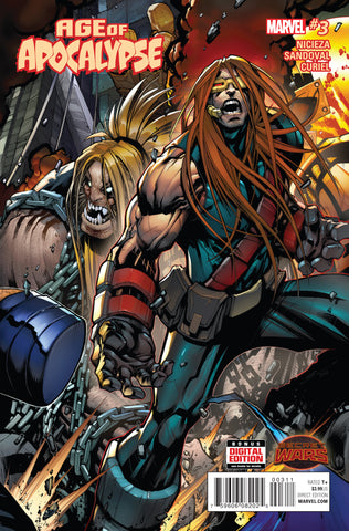 Age of Apocalypse 3 A Marvel 2015 NM Gerardo Sandoval Secret Wars