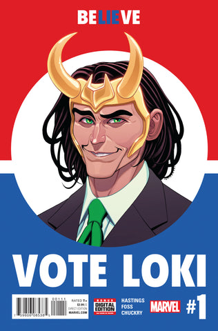 Vote Loki #1 A Marvel 2016 Christopher Hastings Tradd Moore