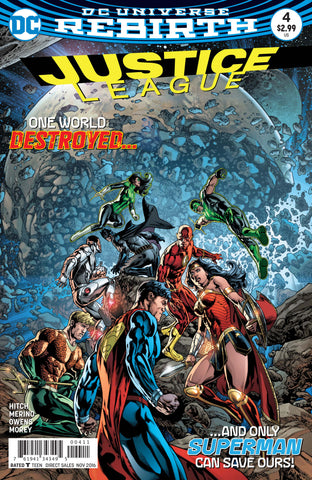 Justice League #4 A DC 2016 Bryan Hitch Fernando Pasarin