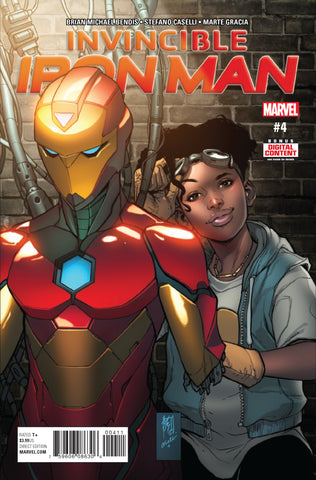Invincible Iron Man #4 A 3Rd Series Marvel 2017 Brian Michael Bendis Stefano Caselli