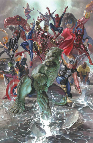 Marvel Legacy 1 2017 NM 1:50 Alex Ross Variant Avengers Hulk Spider-Man