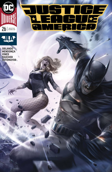 Justice League Of America 26 B DC 2018 Francesco Mattina Variant Batman Black Canary