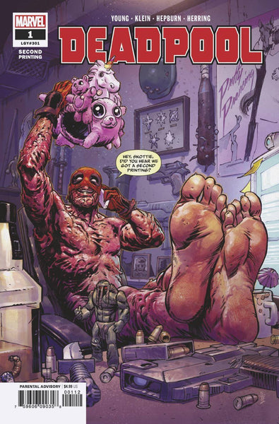 Deadpool 1 Marvel 2nd Print Nic Klein Variant Skottie Young (07/11/2018)