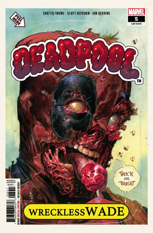 DEADPOOL #5 Marvel Nic Klein Skottie Young Garbage Pail Kids Card Homage (10/03/2018)