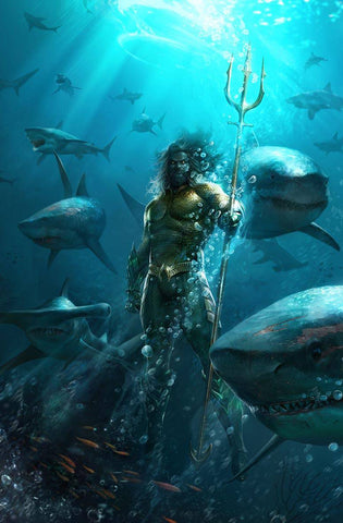 JUSTICE LEAGUE #11 B DC Francesco Mattina Variant Aquaman Scott Snyder (DROWNED EARTH) (11/07/2018)