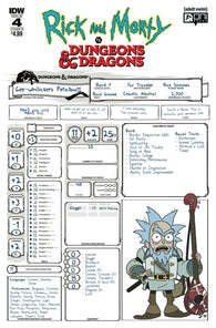 RICK & MORTY VS DUNGEONS & DRAGONS #4 (OF 4) B IDW Troy Little Variant (01/23/2019)