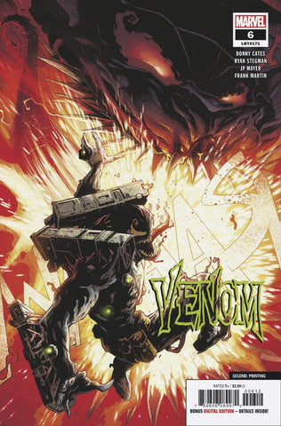Venom 6 Marvel 2nd Print Ryan Stegman Variant Donny Cates (10/31/2018)