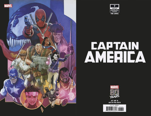 CAPTAIN AMERICA #7 B Marvel Phil Noto 80TH Variant (01/30/2019)