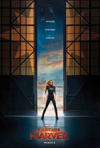 CAPTAIN MARVEL #1 1:10 Brie Larson Movie Poster Variant (01/09/2019)
