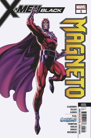 X-MEN BLACK MAGNETO #1 Marvel 2nd Print J Scott Campbell Variant (11/07/2018)
