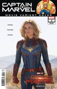CAPTAIN MARVEL #2 B MOVIE Brie Larsen Movie Costume Photo Variant (02/13/2019)