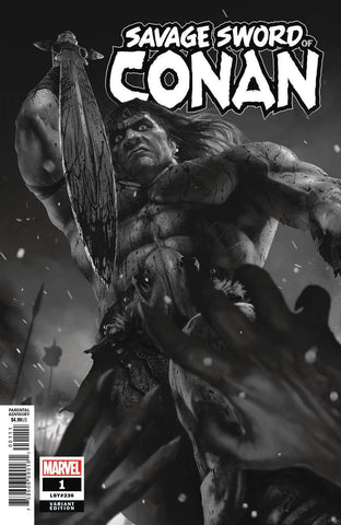 SAVAGE SWORD OF CONAN #1 Marvel 1:50 Rahzzah BW Variant (02/13/2019)