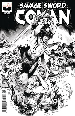 SAVAGE SWORD OF CONAN #2 Marvel 1:50 Pepe Larraz BW Variant (02/27/2019)