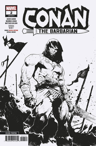 CONAN THE BARBARIAN #2 Marvel 2nd Print Mahmud Asrar Variant (02/06/2019)