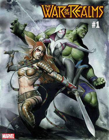 WAR OF REALMS #1 Adi Granov Variant Spider-Gwen Hulk Angela (04/03/2019) MARVEL