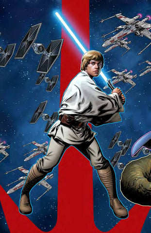 STAR WARS AOR LUKE SKYWALKER #1 B Mike MCKONE PUZZLE PC Variant (06/05/2019) MARVEL