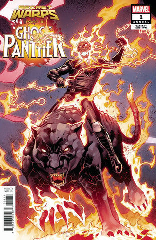 SECRET WARPS GHOST PANTHER ANNUAL #1 B Carlos PACHECO CONNECTING Variant Al Ewing (07/17/2019) MARVEL
