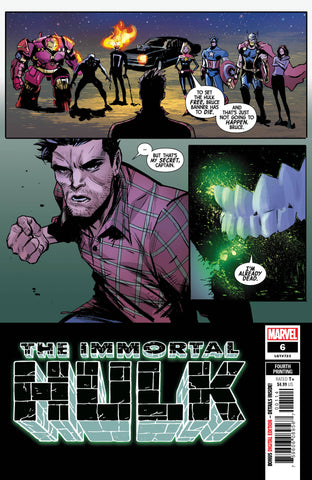 IMMORTAL HULK #6 Marvel 4th Print Lee Garbett Variant (05/29/2019)