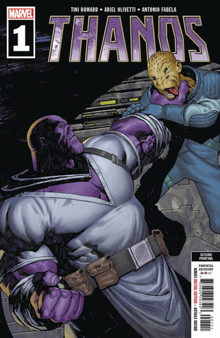 THANOS #1 A (OF 6) 2nd Print Areil Olivetti Variant (05/29/2019) MARVEL