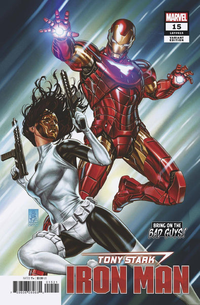 TONY STARK IRON MAN #15 B Mark BROOKS BOBG Variant (08/21/2019) MARVEL