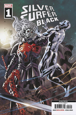 SILVER SURFER BLACK #1 (OF 5) 2nd Print Mike Deodato Spoiler Variant Knull Venom (06/19/2019) MARVEL