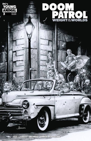 DOOM PATROL WEIGHT OF THE WORLDS #3 B Jay Anacleto Variant Gerard Way (MR) (09/04/2019) DC