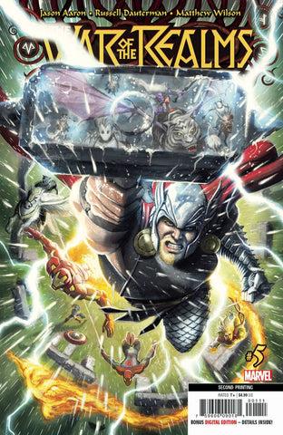 WAR OF REALMS #5 (OF 6) 2nd Print Russell Dautermann Variant (07/17/2019) MARVEL
