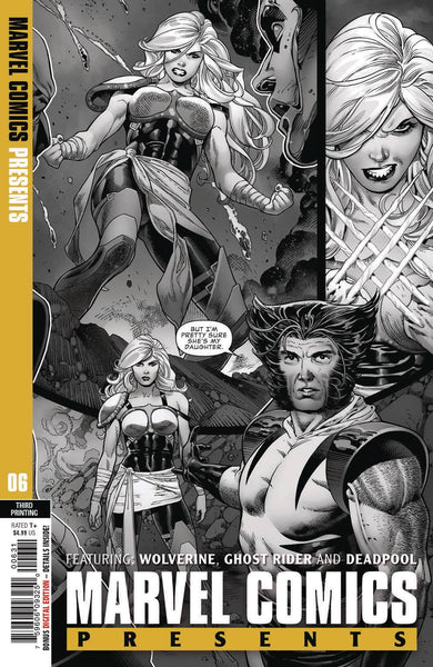 MARVEL COMICS PRESENTS #6 3rd Print Paulo Siqueira Wolverines Daughter BW Variant (08/28/2019) MARVEL