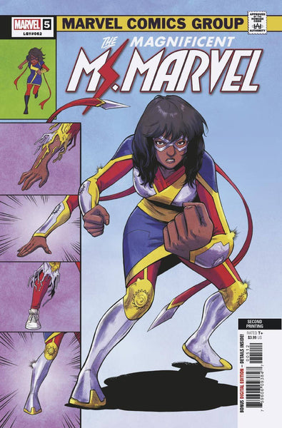 MAGNIFICENT MS MARVEL #5 2nd Print Minkyu Jung Variant Invinsible Iron Man 126 Homage (09/04/2019) MARVEL