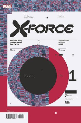 X-FORCE #1 1:10 Tom Muller DESIGN Variant DX (11/06/2019) MARVEL