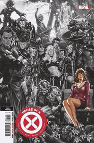 HOUSE OF X #1 (OF 6) 5th Print Mark Brooks Connecting BW Variant (11/13/2019) MARVEL