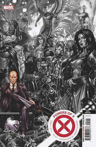 POWERS OF X #1 (OF 6) 5th Print Mark Brooks Connecting BW Variant (11/13/2019) MARVEL