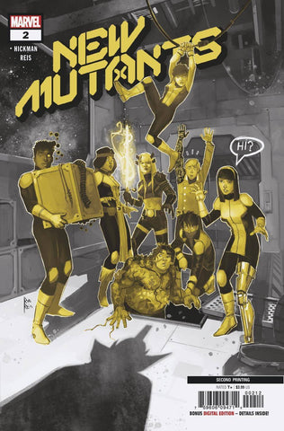 NEW MUTANTS #2 2nd Print Rod Reis Variant DX (01/15/2020) MARVEL