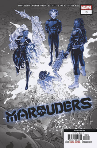 MARAUDERS #3 2nd Print Russell Dauterman Variant DX (01/29/2020) MARVEL