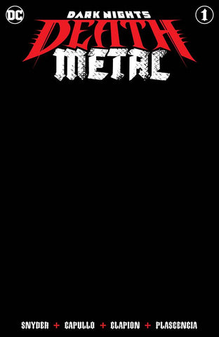Dark Nights Death Metal #1 (Of 6) Black Blank Sketch Variant (05/13/2020) DC