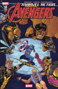 Marvel Action Avengers #10 2nd Print Variant 1st Yellow Hulk (C: 0-1-0) (07/29/2020) IDW