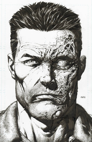 Walking Dead Dlx #6 2nd Print 1:25 David Finch Headshot Raw Sketch Variant (Mr) (02/24/2021) Image