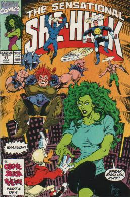 Sensational She-HulK 17 Marvel 1990 Howard Duck