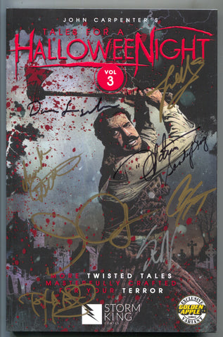 Tales For A Halloween Night Signed 9x John Carpenter Golden Apple Comics Bloody