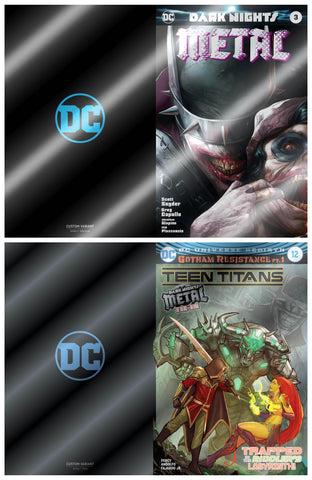 Teen Titans 12 Dark Nights Metal 3 Francesco Mattina DC 2018 1st Batman Who Laughs Foil Variant Set
