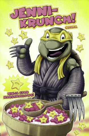 TMNT ONGOING #98 Mike Vasquez Jennika Cereal Box Variant Teenage Mutant Ninja Turtles (09/25/2019) IDW