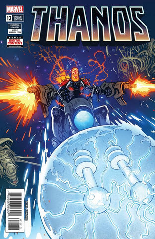Thanos 13 Marvel 2018 Geoff Shaw 3rd Print Cosmic Ghost Rider Variant