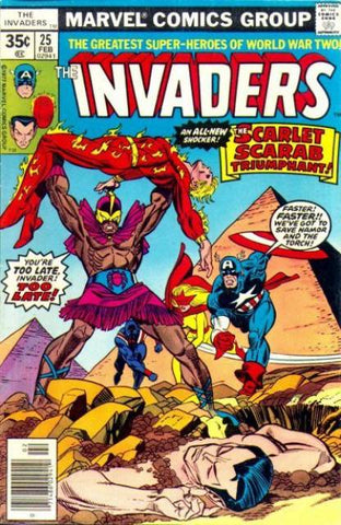 Invaders 25 Marvel 1977 Scarlet Scarab