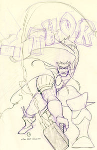 Thor #6 Peach Momoko Mighty Thor 337 Homage Sketch Trade Black Winter Variant (08/19/2020) Marvel