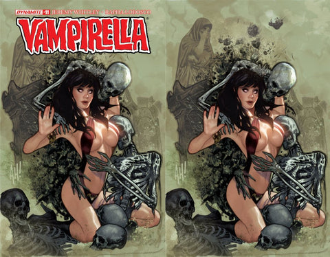 Vampirella 11 Adam Hughes Trade + Virgin Variant Set Of 2 Skeleton